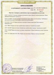 Приложение. №1 Сертификат соответствия.Мостовые краны